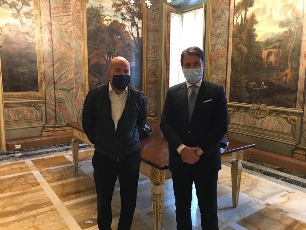 Donato Termoscanner a Palazzo Chigi: il Premier Conte ha voluto ringraziare personalmente Marco Pasquini e PM Allarmi